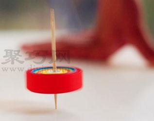 纸陀螺的做法图片 超简单的纸陀螺制作图解