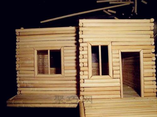 一次性筷子制作小房子