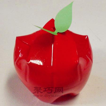 废旧饮料瓶手工制作平安果 矿泉水瓶diy圣诞苹果