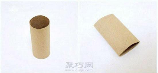 卷纸筒手工制作创意礼品盒步骤1