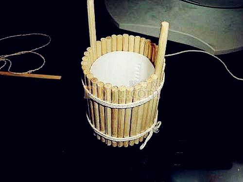 一次性筷子手工制作小木桶图解教程