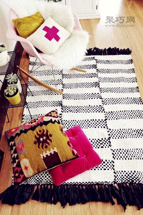 旧T恤diy地毯 旧t恤怎样改造地毯