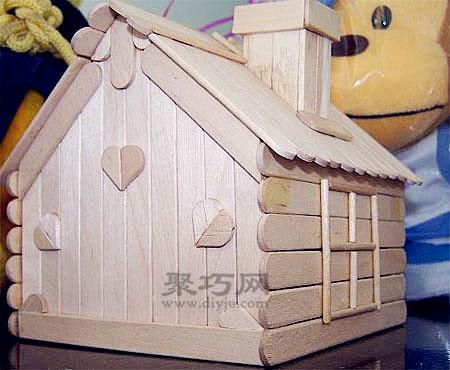 冰棍棍手工制作小木屋