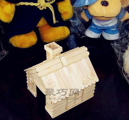 雪糕棍diy小房子 冰棍棍手工制作小木屋