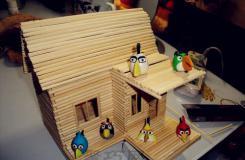 一次性筷子手工制作小房子 diy小木屋的图解教程
