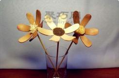 冰棒棍diy创意小花朵 雪糕棍变废为宝手工制作大全