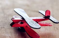 雪糕棍手工制作飛機 衣夾和冰棍棒diy迷你飛機