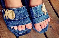 舊牛仔褲變廢為寶做居家布藝拖鞋教程
