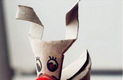 卫生纸筒变废为宝可爱的圣诞驯鹿
