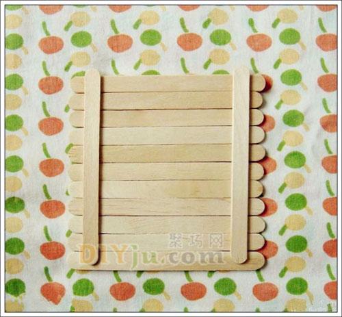 雪糕棍手工制作飾物掛板 冰棒棍diy鑰匙掛板