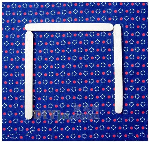 雪糕棍手工制作最簡單相框 冰棍棍diy簡易畫框