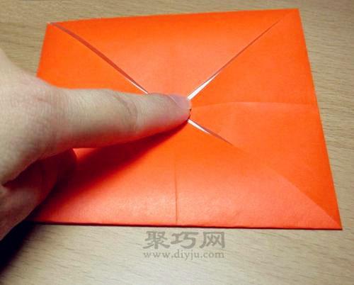 长方形纸折纸盒子,这是一个非常简单的小物件收纳盒