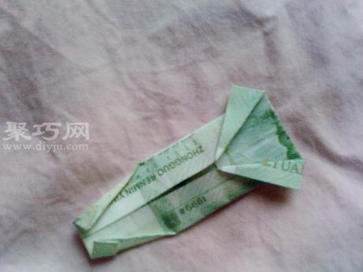 用钱折纸 手工折纸指环戒指步骤图解