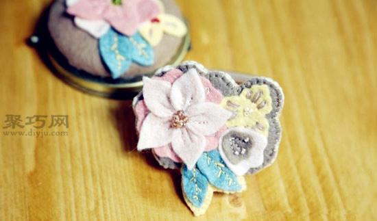 DIY头花的做法图松 教养你何以做顺手工头饰