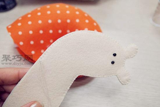 DIY布艺蜗牛小靠枕