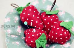 手工制作布藝掛件 萌萌的草莓掛件DIY教程