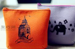 韓國手工制作布藝小包教程 教你如何DIY布藝手拿包