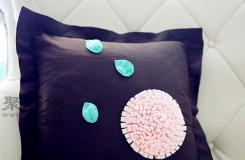 立�w荷花抱枕制作方法 一起��DIY布�抱枕