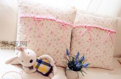 如何手工DIY布艺靠垫 自制粉色花边布靠垫教程
