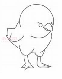 简笔画小黄鸡仔的画法 教你如何画小黄鸡仔简笔画