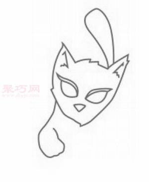 怎么画小猫简笔画 画小猫的步骤图片