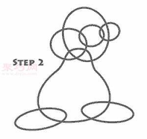 卡通兔子簡筆畫第3步