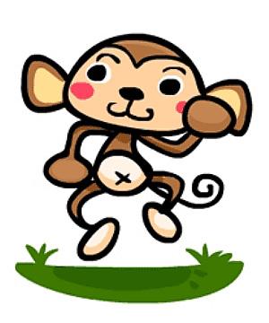 简易画猴子的步骤 画猴子的简笔画图片