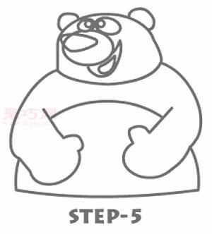 幼儿简笔画大熊猫的画法