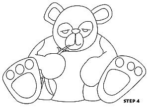 儿童简笔画熊猫的画法 教你如何画熊猫简笔画