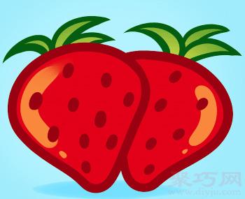草莓簡筆畫第6步