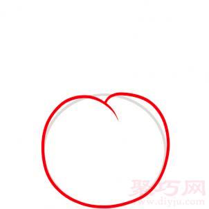 櫻桃簡筆畫第2步