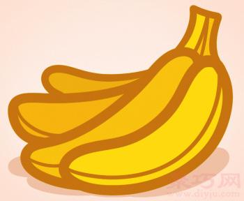 简易画一串香蕉的步骤 画一串香蕉的简笔画图片