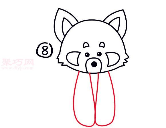 儿童简笔画小熊猫的画法