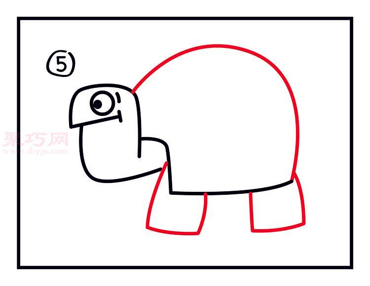 简笔画 爬行动物