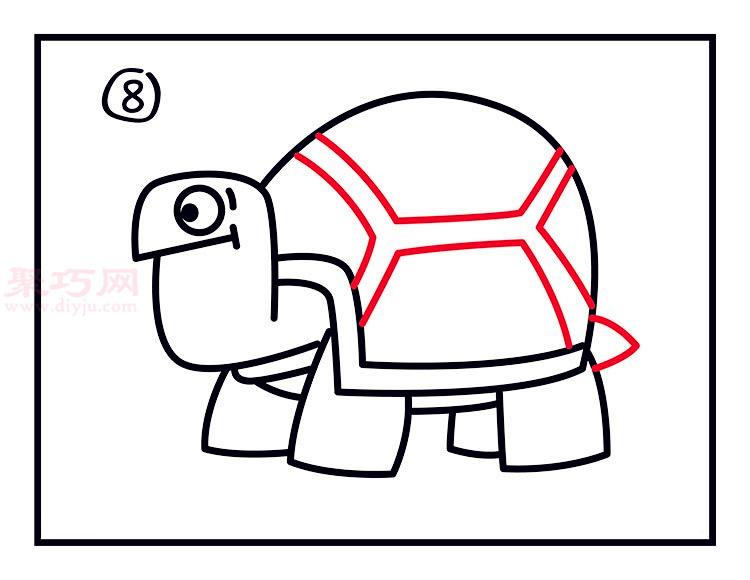 幼儿简笔画乌龟的画法