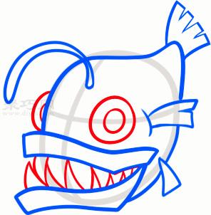 琵琶魚簡筆畫第4步