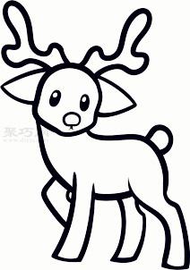 兒童簡筆畫馴鹿的畫法 教你如何畫馴鹿簡筆畫