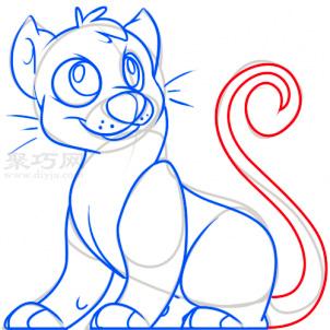 幼儿简笔画豹子的画法 教你如何画豹子简笔画