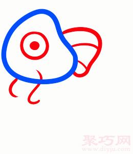 錦鯉魚簡筆畫第2步