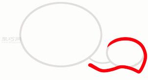 乌龟简笔画第2步