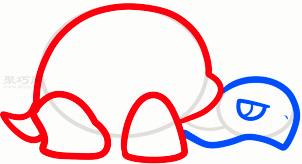 乌龟简笔画第4步