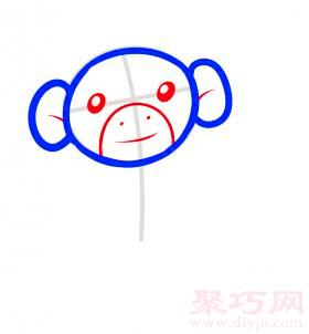 長臂猿簡筆畫第3步