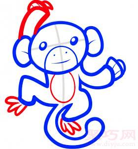 長臂猿簡筆畫第5步
