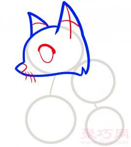 狐狸简笔画第3步