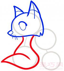 狐狸简笔画第4步