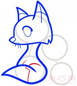 狐狸简笔画第5步