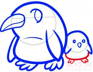 企鹅妈妈和宝宝的画法 教你如何画企鹅妈妈和宝宝简笔画