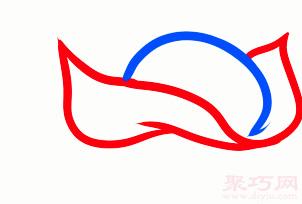 黃貂魚簡筆畫第2步
