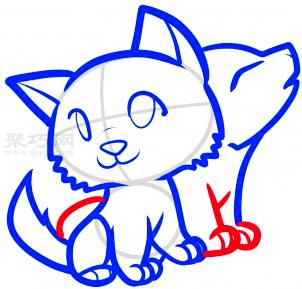 简笔画小猫和小狗的画法 教你如何画小猫和小狗简笔画
