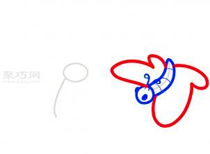 两只蝴蝶简笔画第4步
